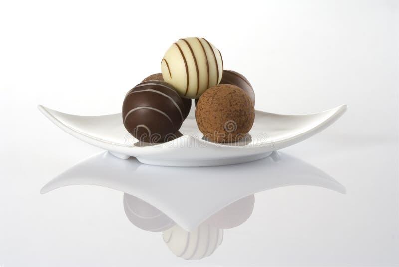 Schokoladen-Trüffeln stockfotografie