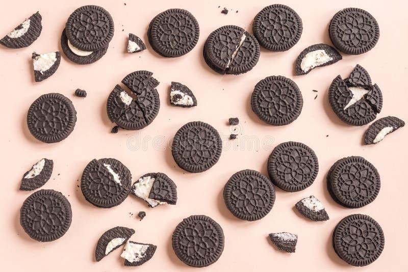 Schokoladen- und Cremeplätzchen Oreo lizenzfreies stockbild