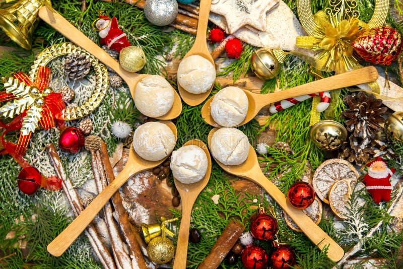 Schokoladen- und Plätzchenweihnachten lizenzfreies stockfoto
