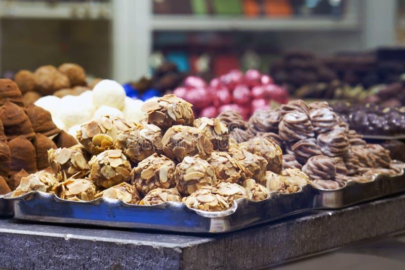Schokoladen von Belgien lizenzfreies stockfoto