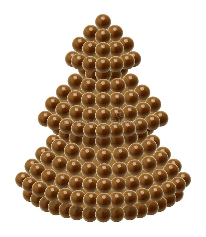 Schokoladen-Weihnachtsbaum lizenzfreies stockbild