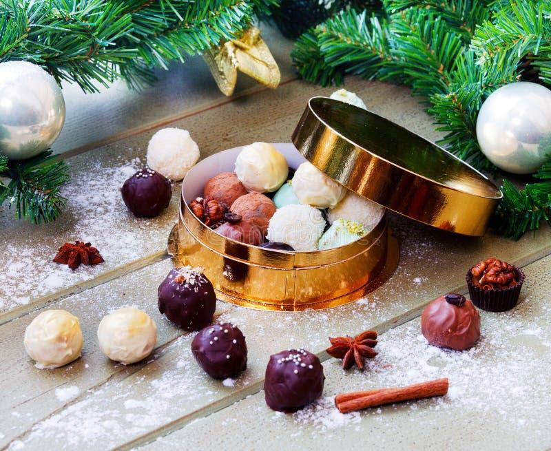 Schokoladen, Weihnachtsstimmung stockfotografie