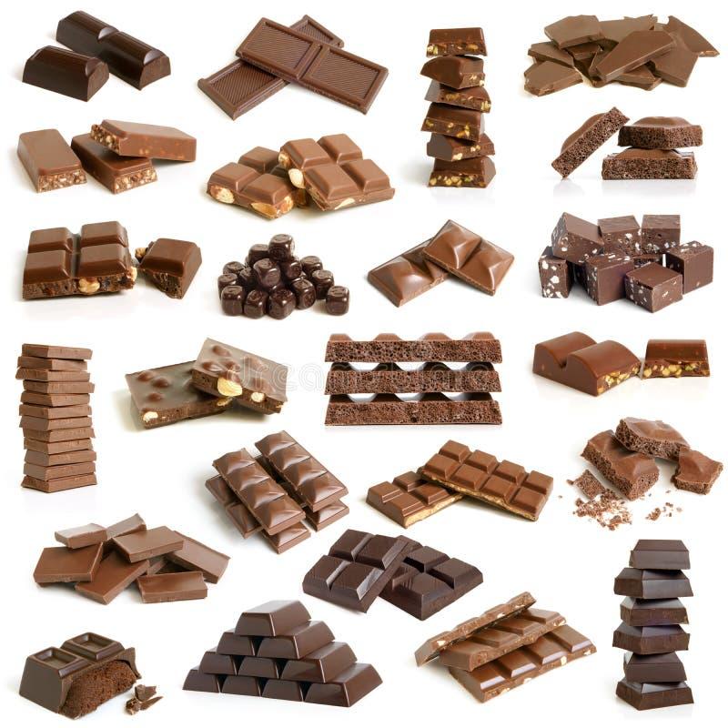 Schokoladenansammlung stockfoto