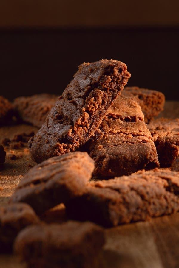 Schokoladenbiskuite lizenzfreie stockfotografie
