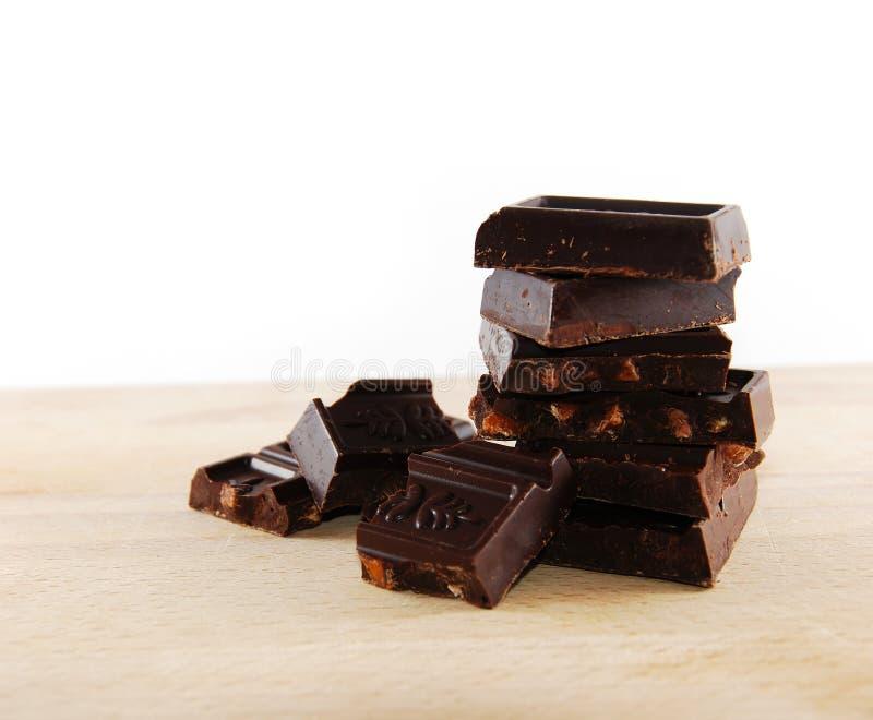 Schokoladenblöcke lizenzfreie stockfotos