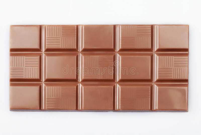 Schokoladenblock auf Weiß lizenzfreies stockfoto
