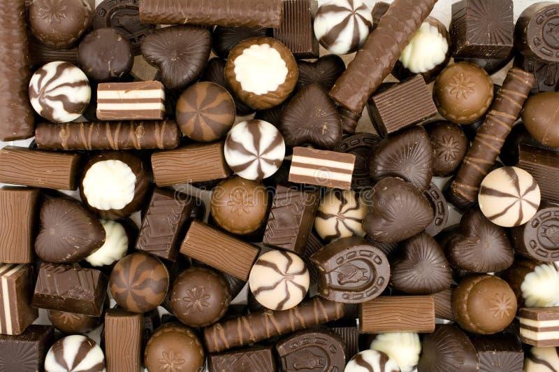 Schokoladenbonbons lizenzfreies stockfoto