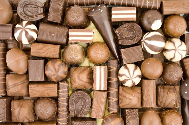Schokoladenbonbons stockfotografie