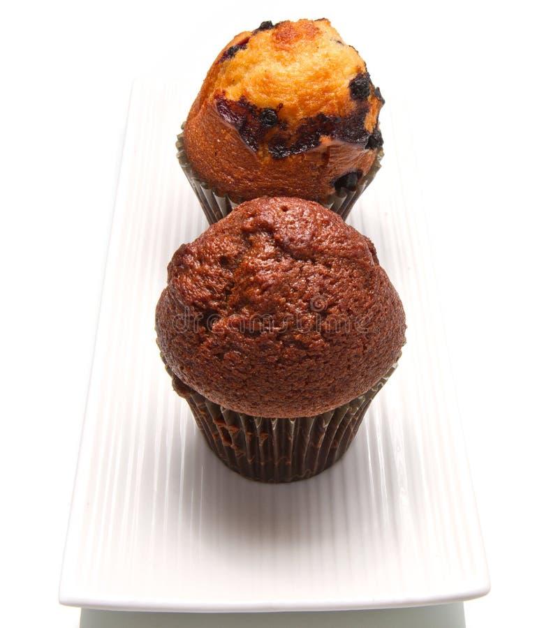 Schokoladenchip-Muffin lizenzfreies stockbild