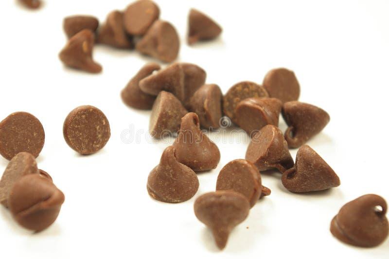 Schokoladenchips stockfoto
