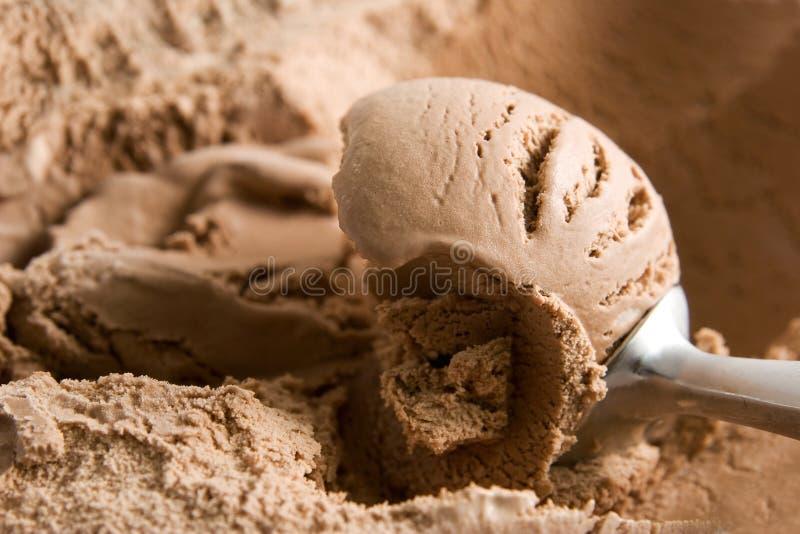 SchokoladenEiscreme lizenzfreies stockfoto