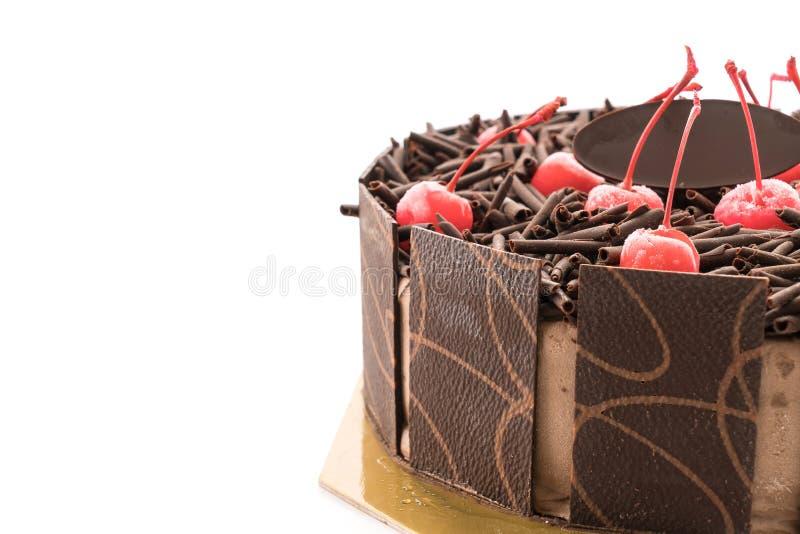 Schokoladeneiskuchen stockbilder