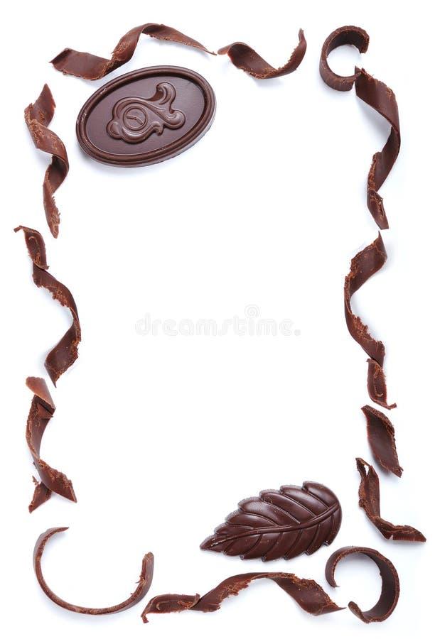 Schokoladenfahne lizenzfreies stockbild