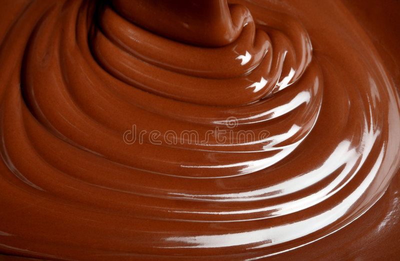 Schokoladenfluß stockfoto