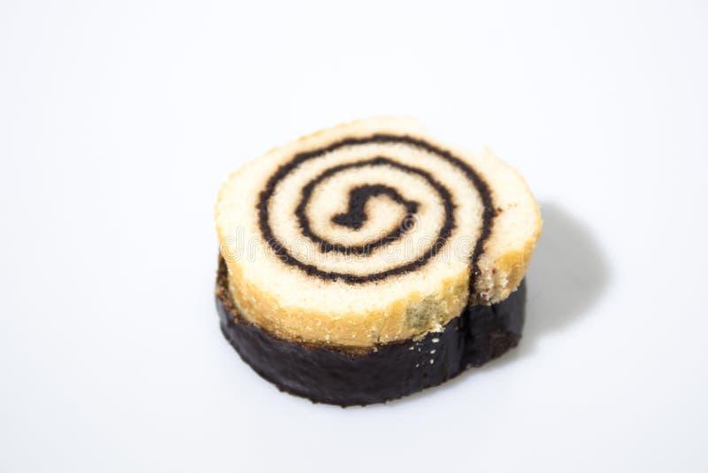 Schokoladenimbiß lokalisiert in einem weißen Hintergrund stockfotos