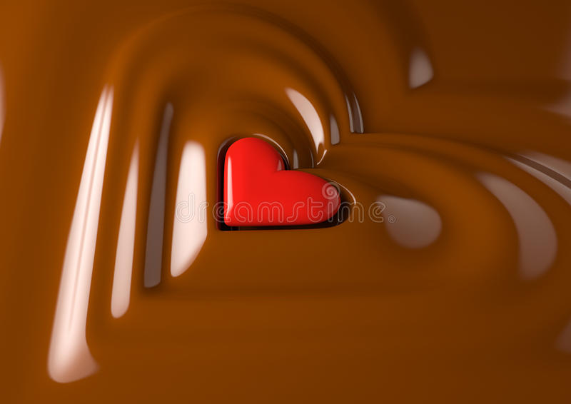 Schokoladeninneres lizenzfreie abbildung