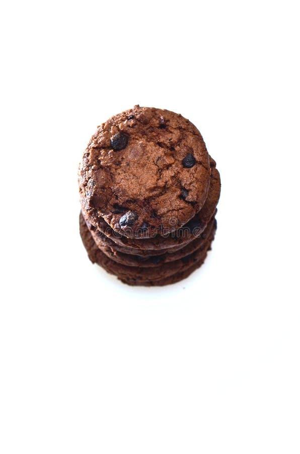 Schokoladenkekse plus die Rosinen, rund mit einer rauen Beschaffenheit lizenzfreies stockfoto