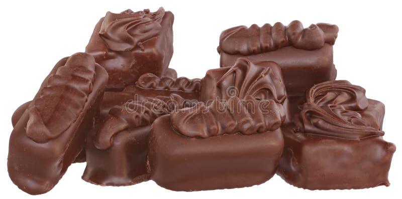 Schokoladenkonfekte stockbilder