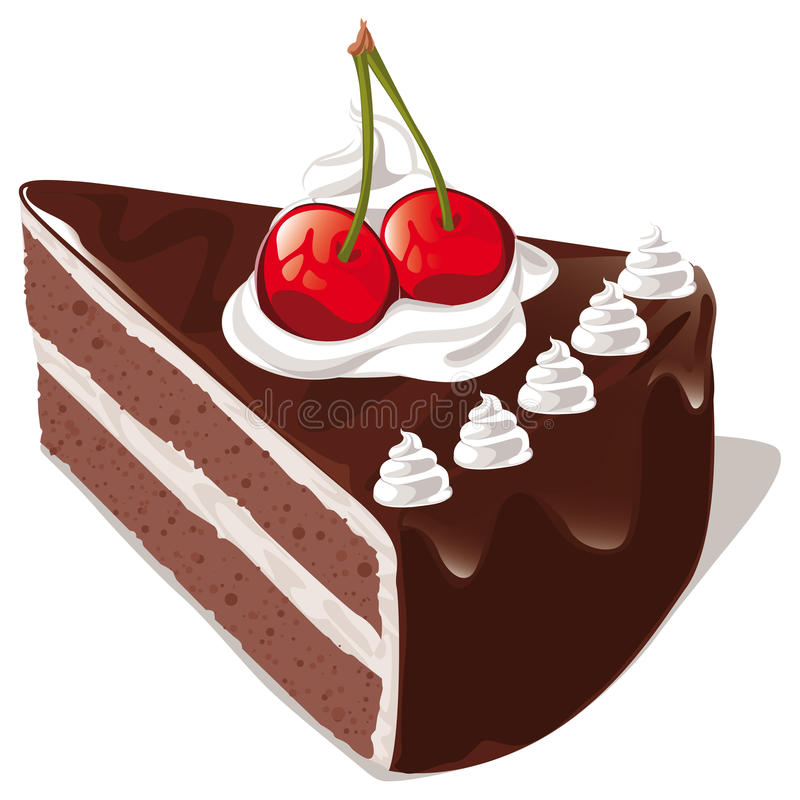 Schokoladenkuchen stock abbildung