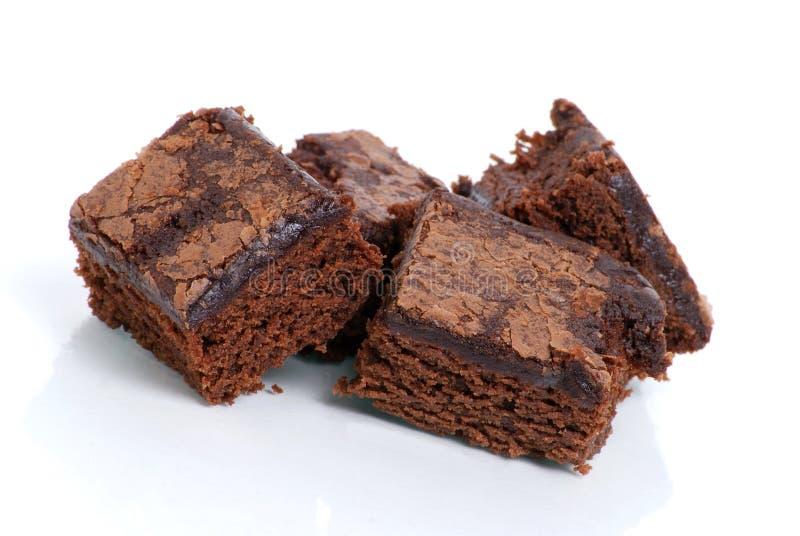 Schokoladenkuchen-Imbisse lizenzfreie stockfotos