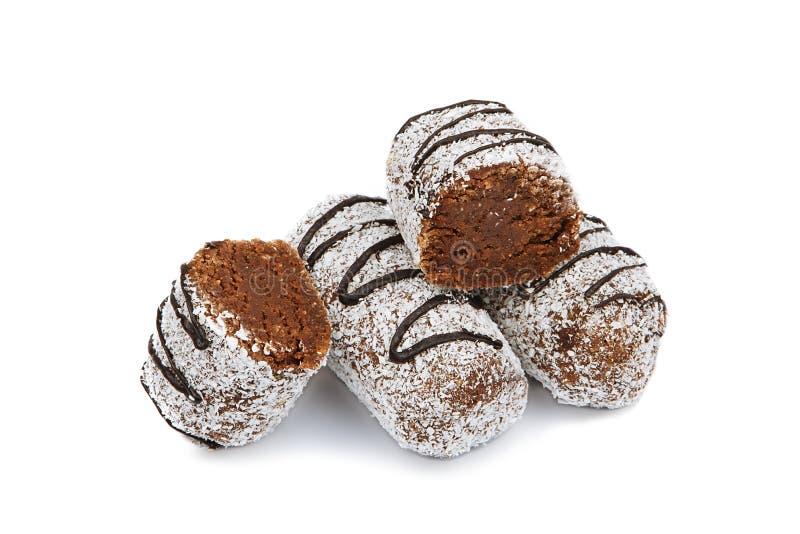 Schokoladenkuchen mit Kokosnuss lizenzfreies stockfoto