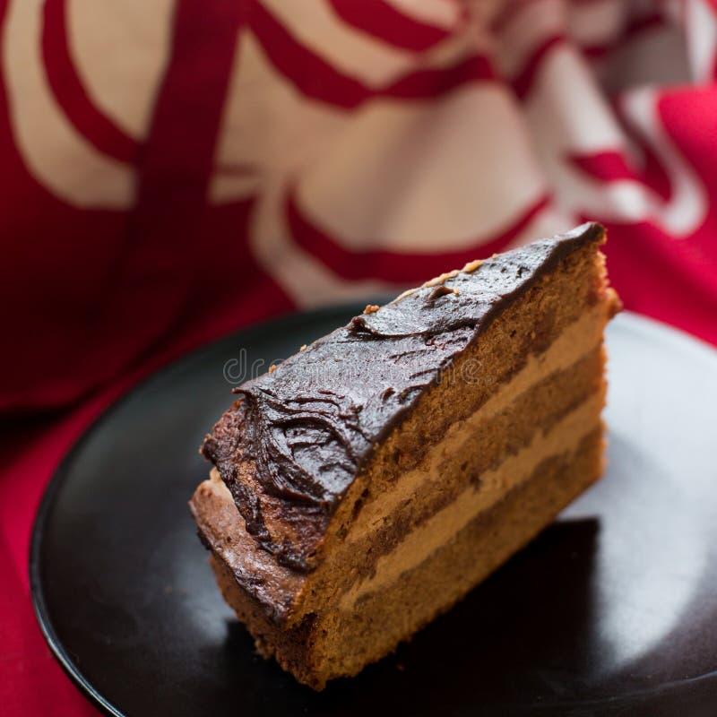 Schokoladenkuchen Prag lizenzfreies stockbild