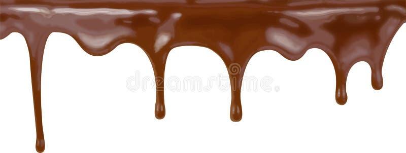 Schokoladenkuchen strömt Hintergrundvektorillustration stock abbildung