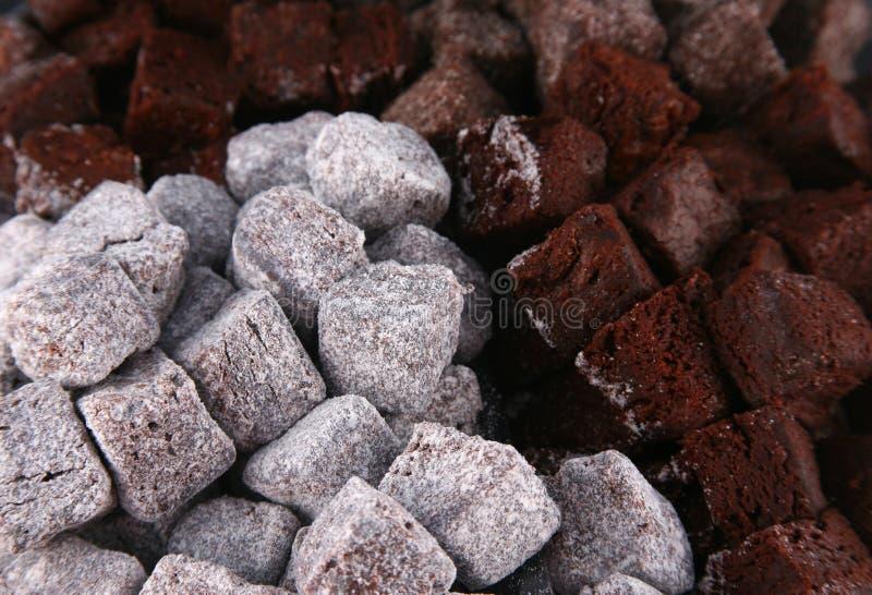 Schokoladenkuchenbissen 3 stockfotografie