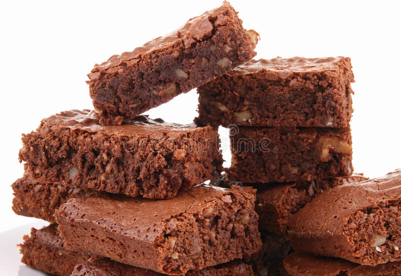 Schokoladenkuchenstapel lizenzfreies stockbild