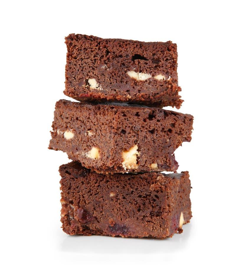 Schokoladenkuchenstapel stockbilder