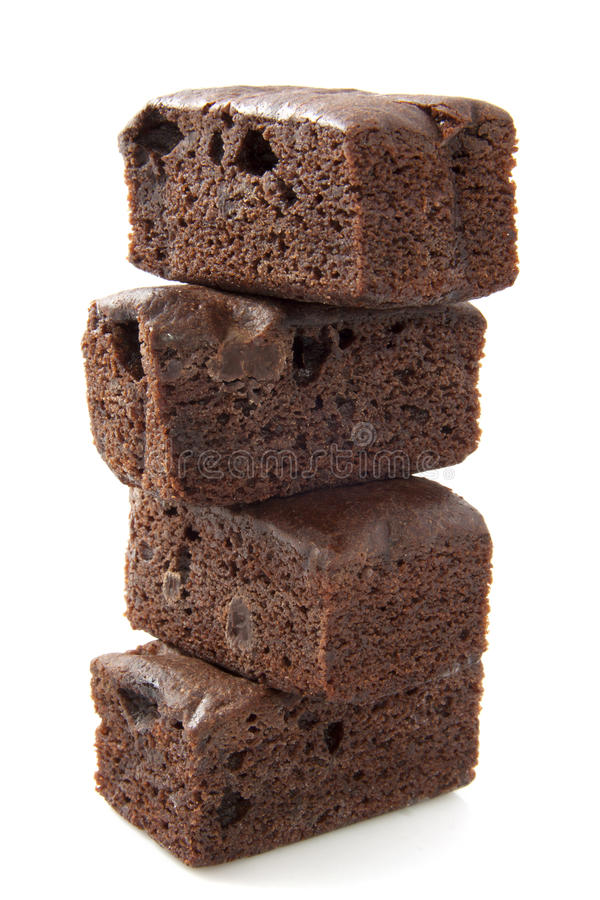 Schokoladenkuchenturm lizenzfreie stockfotos