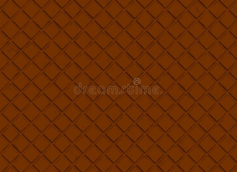 Schokoladenmuster. braune Hintergründe stock abbildung