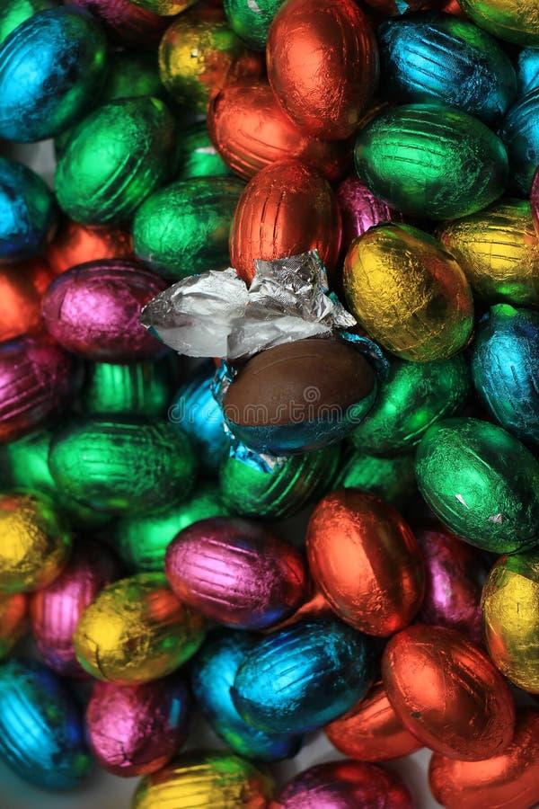 SchokoladenOstereier stockbilder