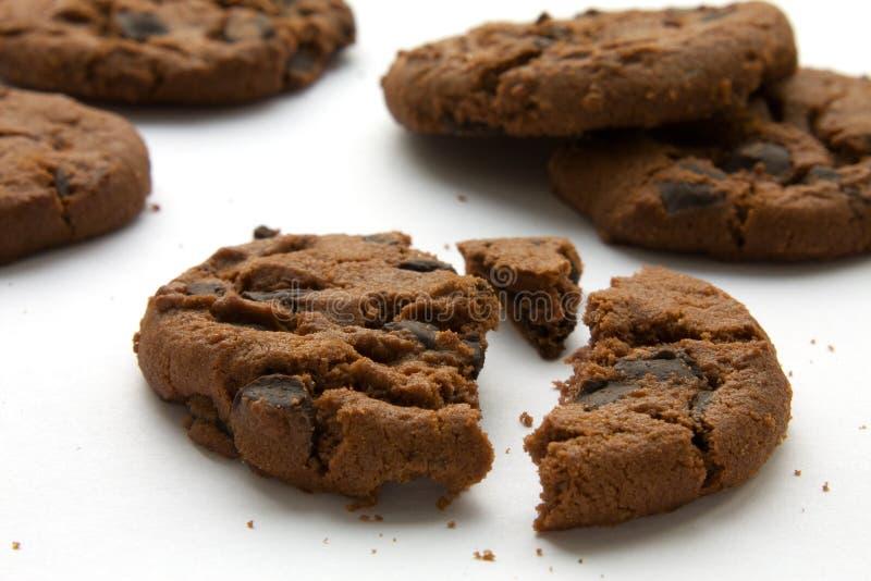 Schokoladenplätzchen stockbild