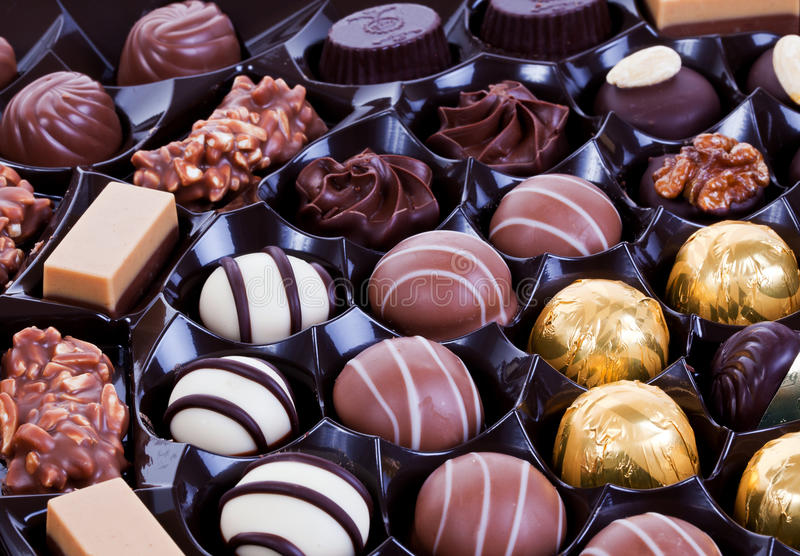 Schokoladenpralinen stockbilder