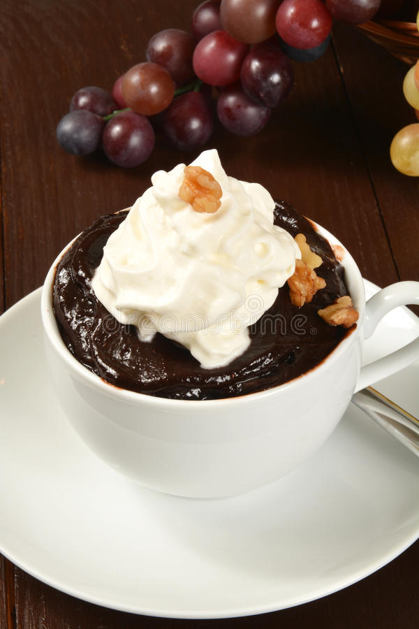 Schokoladenpudding stockfotos