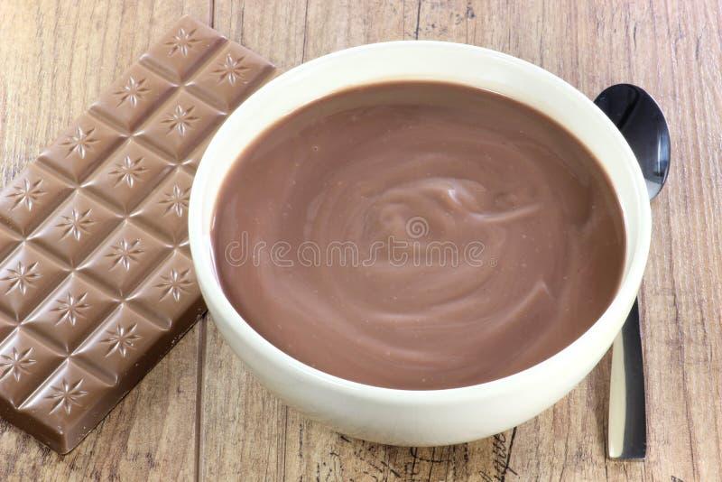 Schokoladenpudding 01 lizenzfreie stockbilder