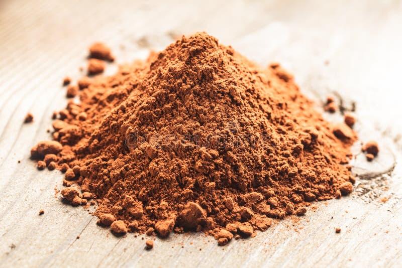 Schokoladenpulver lizenzfreies stockfoto