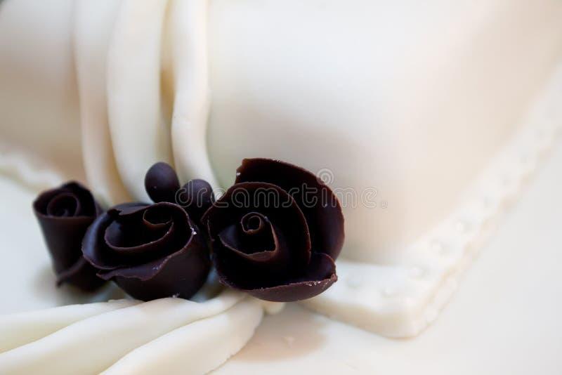 Schokoladenrosen stockbild