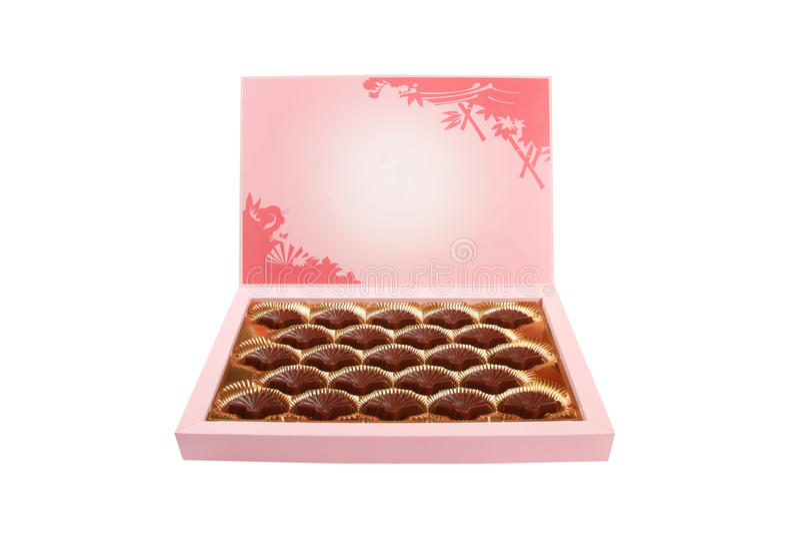 Schokoladensüßigkeitkasten stockbild