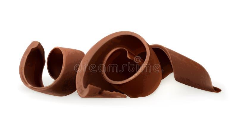Schokoladenschnitzelillustration lizenzfreie abbildung