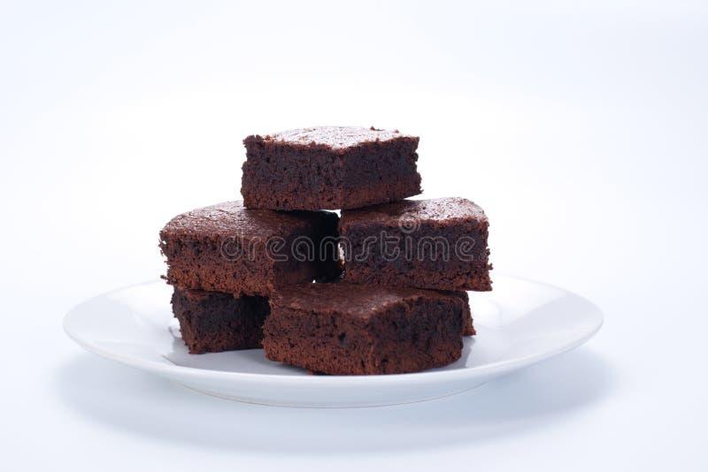 Schokoladenschokoladenkuchen lizenzfreies stockfoto