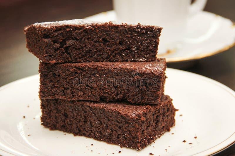 Schokoladenschokoladenkuchen stockbild