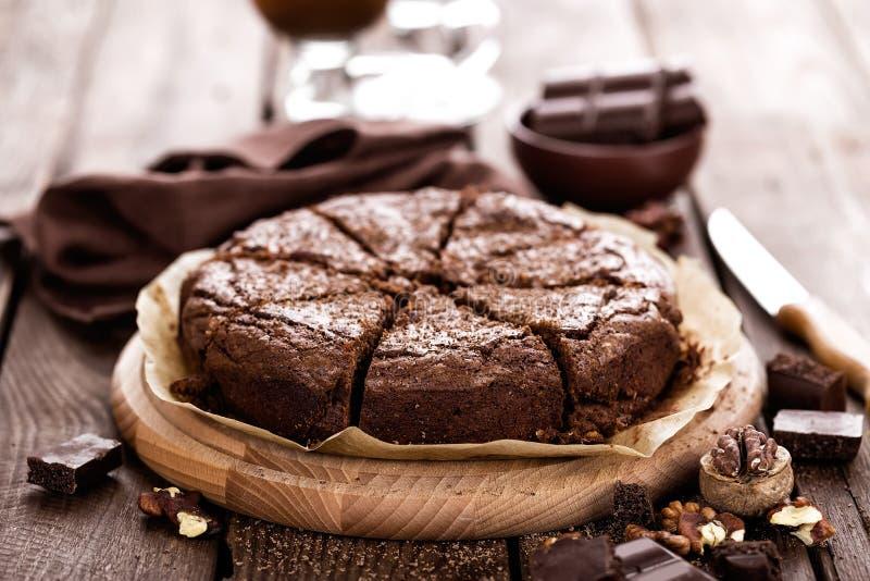 Schokoladenschokoladenkuchen lizenzfreie stockbilder