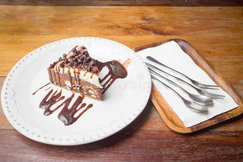 Schokoladensplitterkuchen stockbild