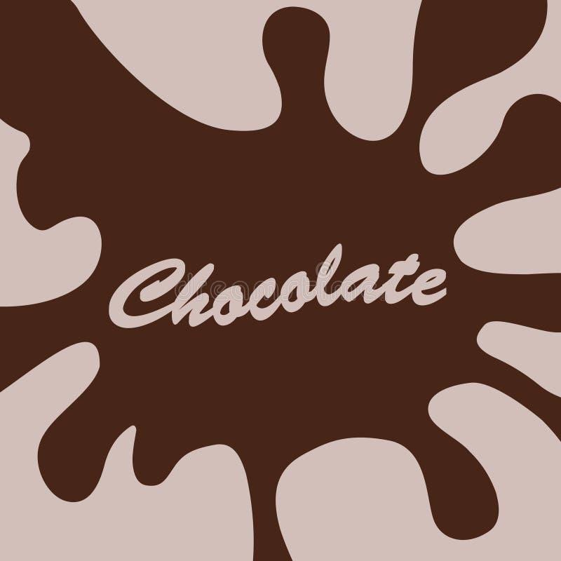 Schokoladenspritzenhintergrund lizenzfreie abbildung