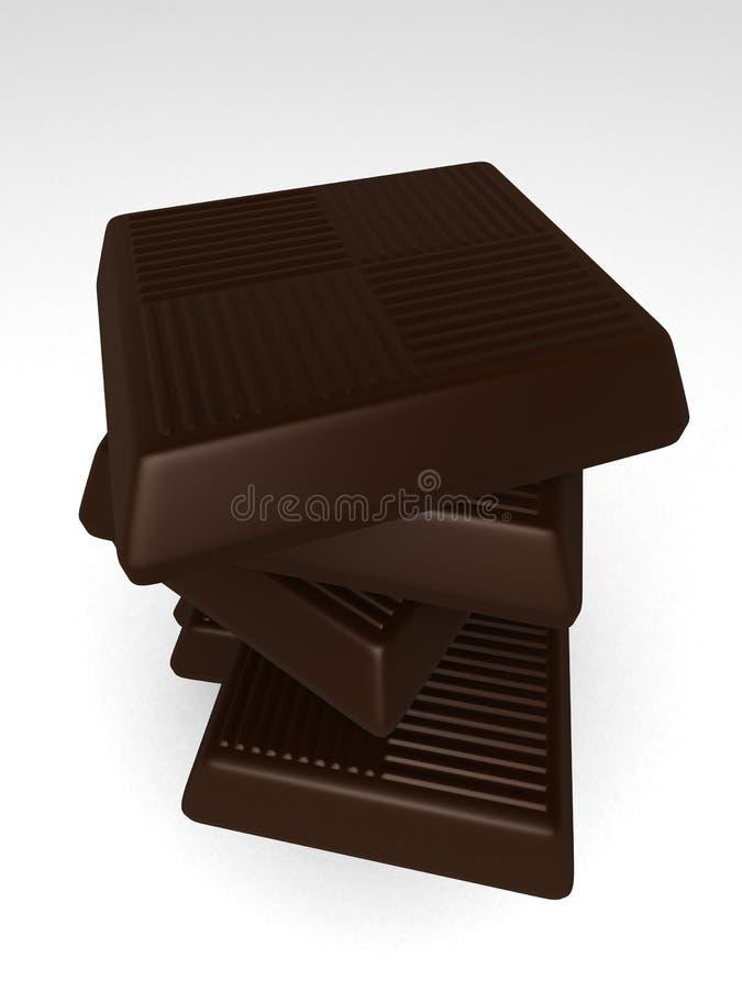 Schokoladenstücke stock abbildung