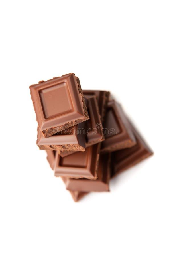 Schokoladenstapel stockfoto