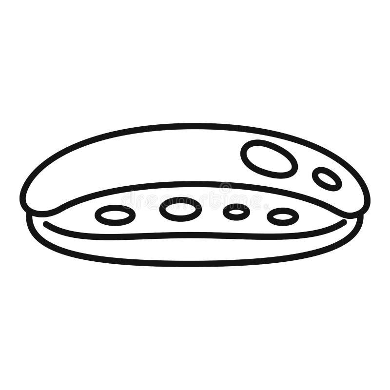 Schokoladensymbol, Umrissstil stock abbildung