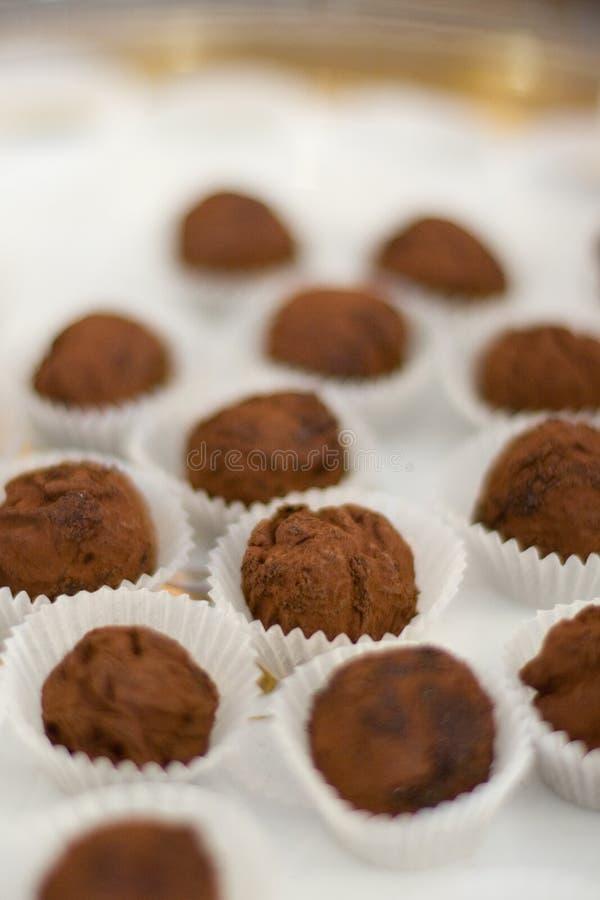 Schokoladentrüffel stockfotos